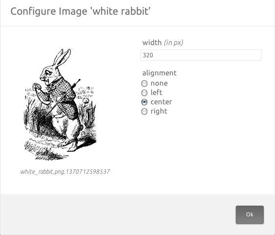 platen configure image